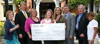 Ascot Charitanble Trust Presents Cheque