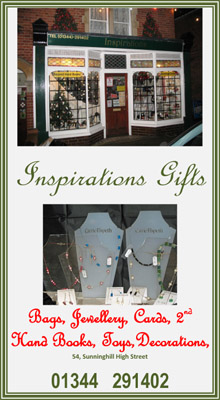 Inspirations Gifts, books, jewellery, cards, sunninghill