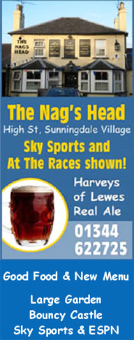Nags head pub sunningdale, good food, real ale