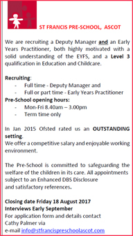 St.Francis R c School Job Vacancy