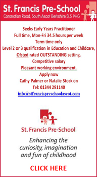 St.Francis Pre School Job Vacancy