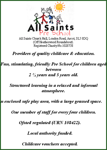 All Saints Pre School Ascot