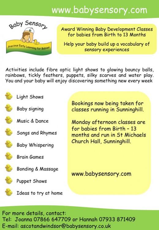 Baby Sensory   :: Mondays Ascot