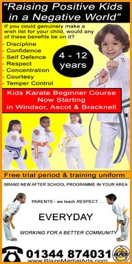 Blaze Martial Arts classes in Ascot