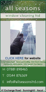 All Seasons Window Cleaning Ascot.