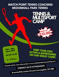 Matchpoint tennis coaching Sunningdale