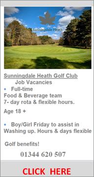 Sunningdale Heath Golf Club | Hospitality Job Vacancies | 2021