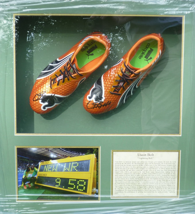 auction of usain bolts running shoes
