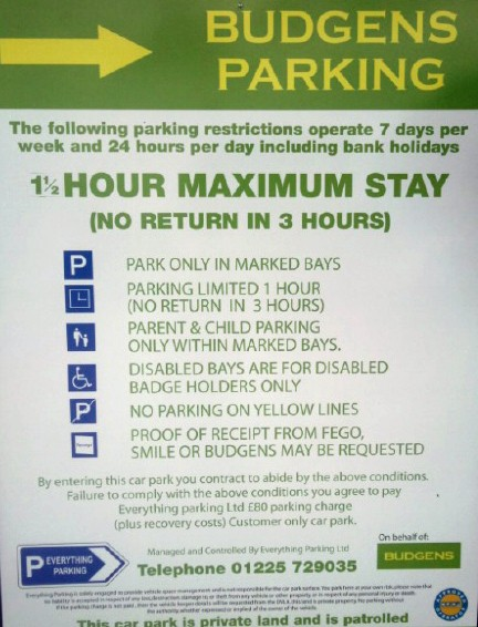 Oracle Reading Car Parking Charges