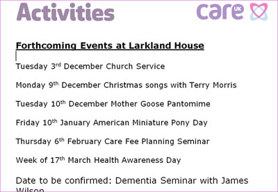 Larklands Care Home Ascot : Respite Care