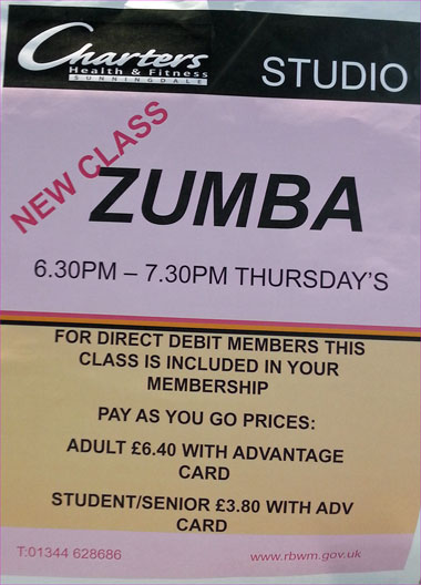 Charters Leisure Centre :: Thursday Zumba
