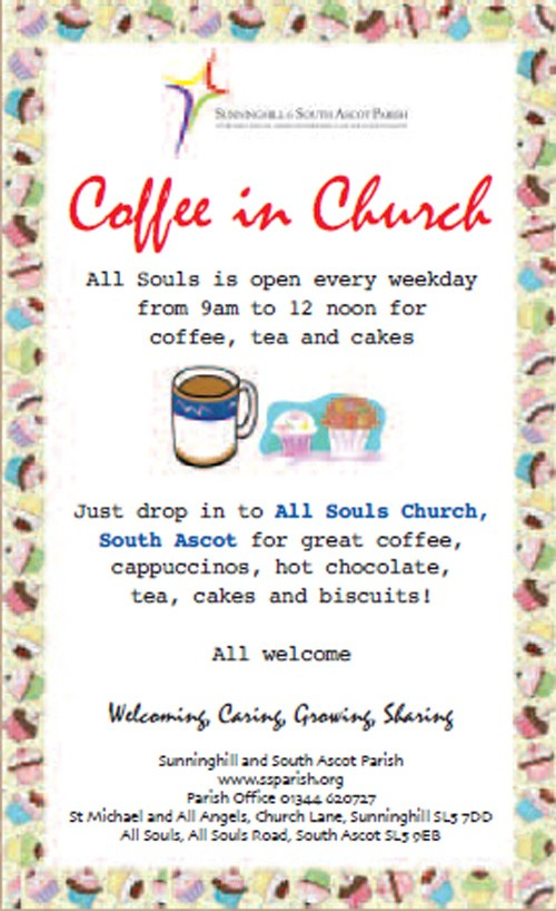 All Souls South Ascot : Coffee in Church