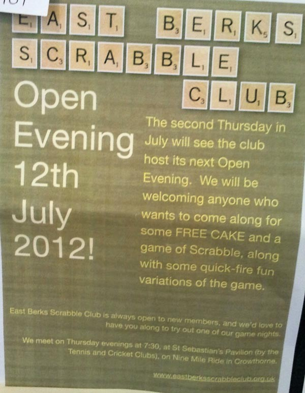 East Berks Scrabble Club : Crowthorne