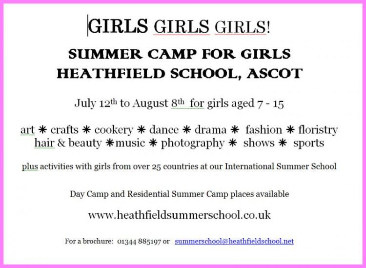 Heathfield School :: Summer Camp