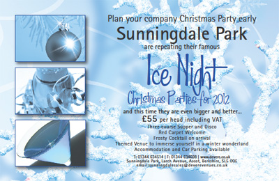 Sunningdale Park :: Ice Night Christmas Parties