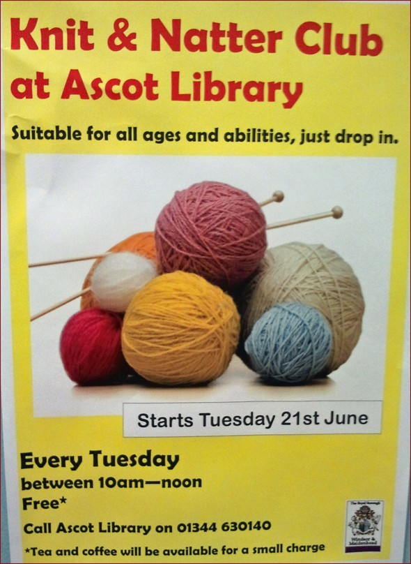 ascot library :: knit & natter