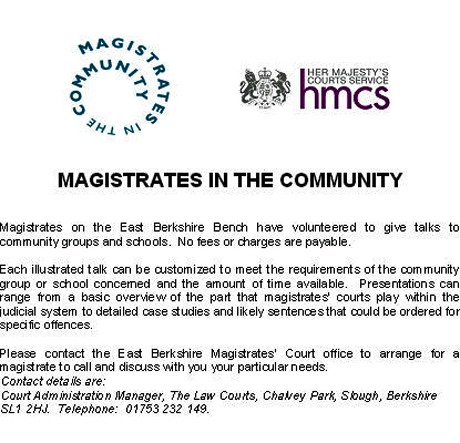 magistrates :: free talks