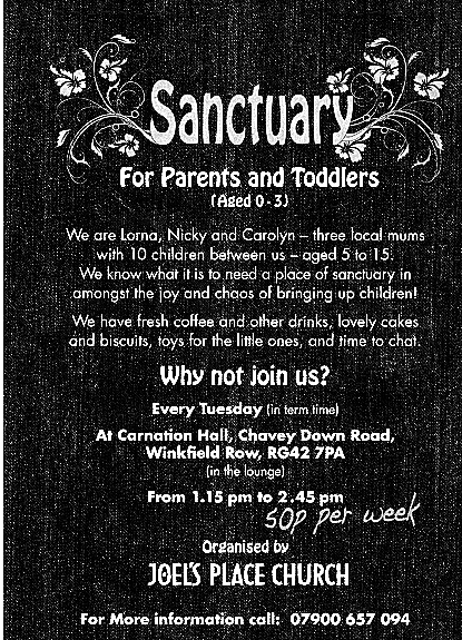 group for parents, with babies and toddlers in Winkfield, near Ascot
