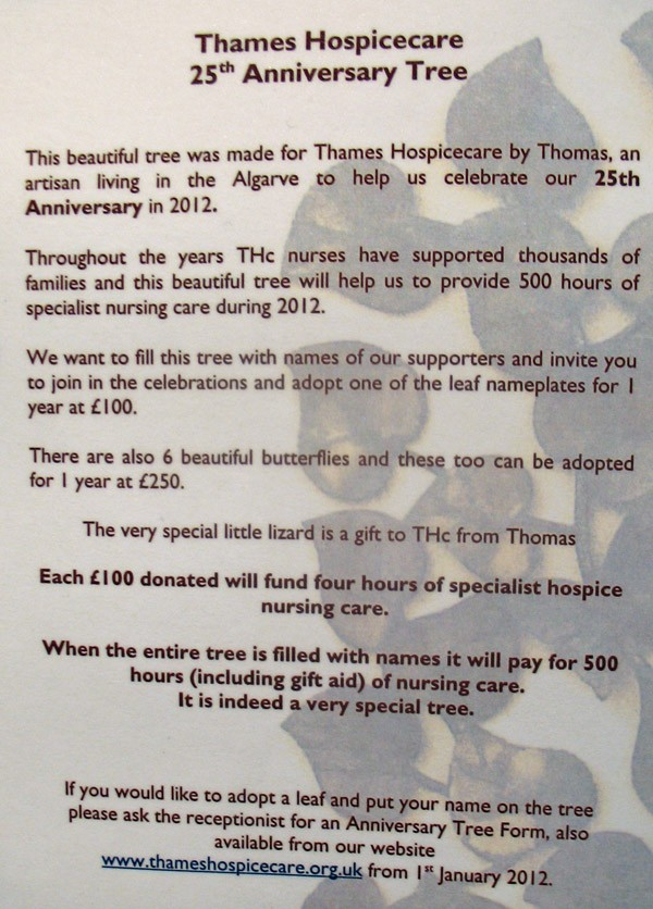 Thames Hospicecare :: Tree of Life