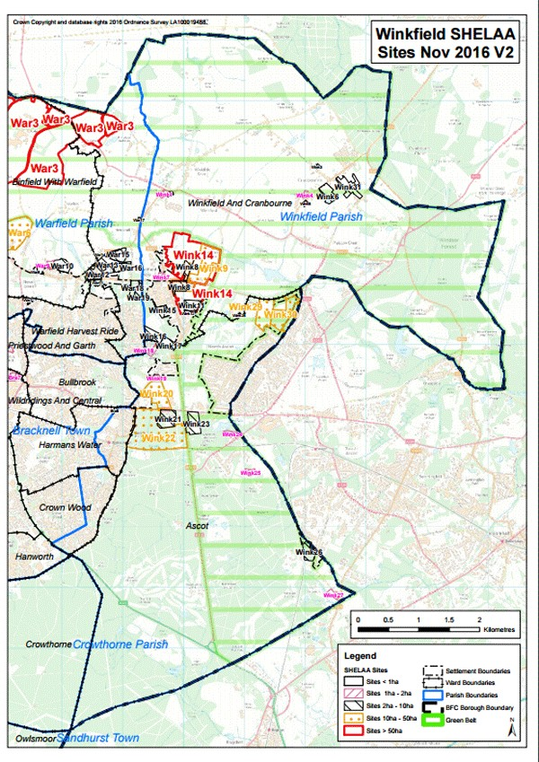 Winkfield Housing Sites Included in Bracknell Forest Consultation